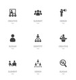set of 9 editable cooperation icons includes vector image vector image