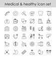 set of line icons sign vector image vector image