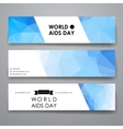 Set of modern design banner template in World AIDS vector image