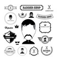 set of vintage barber badges and labels vector image