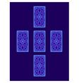 Simple cross tarot spread Tarot cards back side vector image vector image