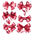 Six red bows vector image