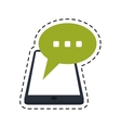 smartphone bubble speech chat communication dot vector image vector image