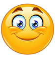 smiling emoticon vector image