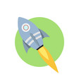 space rocket launch startup creative idea rocket vector image