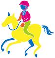 Sport icon design for esquestrain vector image vector image