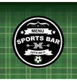 Sports bar menu template design vector image vector image