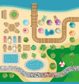 swimming pool hotel resort layout template vector image vector image