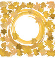 template banner autumn leaves vector image