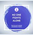 testicular cancer awareness creative grey and vector image vector image