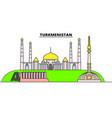 turkmenistan line skyline vector image vector image
