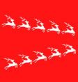white reindeer vector image