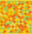 yellow pixel squares pattern vector image vector image