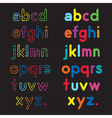 small letters a to z vector image