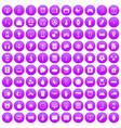 100 app icons set purple vector image vector image