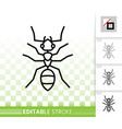 ant insect simple black thin line icon vector image vector image