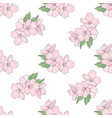 apple flowers floral seamless pattern illus vector image vector image