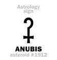 astrology asteroid anubis vector image vector image