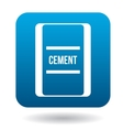 Bag of cement icon simple style vector image vector image