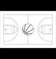 basketball court basketball ball top view vector image vector image