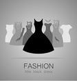 black dress set vector image vector image