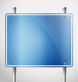 Blank metal information board template vector image vector image