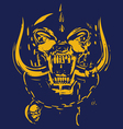 Blue skull and deep yellow vector image vector image