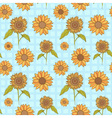 Bright sunflowers floral seamless vector image vector image
