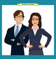 businesswoman and businessman character design vector image