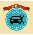 car repair service design vector image vector image