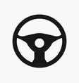 car steering wheel icon vector image vector image