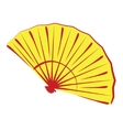 Chinese folding fan isolated on white vector image