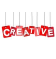colorful hanging cardboard Tags - creative vector image vector image