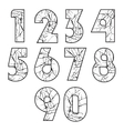 Crack Numbers vector image vector image