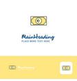 creative euro logo design flat color logo place vector image vector image