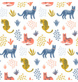 cute seamless pattern with colorful leopards vector image vector image