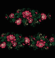 embroidery design in baroque style seamless vector image