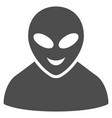 glad alien person flat icon vector image vector image