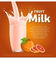 Grapefruit sweet milkshake dessert cocktail vector image vector image