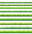 grass isolated on white set green meadow nature vector image