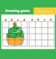 grid copy worksheet educational children game vector image vector image
