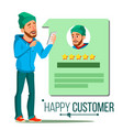 happy client positive testimonials vector image