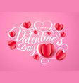 happy valentine s day font composition with paper vector image