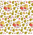 herbal berries fruits seamless pattern vector image