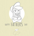 hipster funny bearded man greeting card vector image