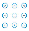 holiday icons colored set with kaaba dates vector image vector image