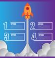 infographics design template rocket 4 options vector image vector image