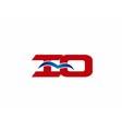 iO company logo vector image vector image