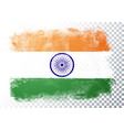 isolated grunge flag india background vector image vector image