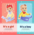 it s a boy and it s a girl for vector image